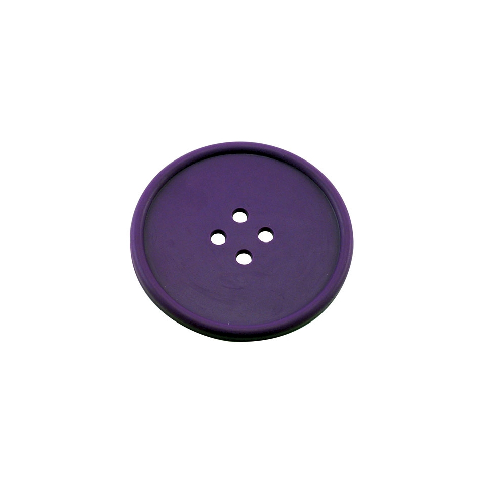 Sottobicchieri bottone in gomma viola cm 10