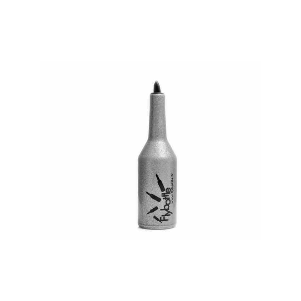 Bottiglia Flair Fly Silver in gomma argento cm 27x8