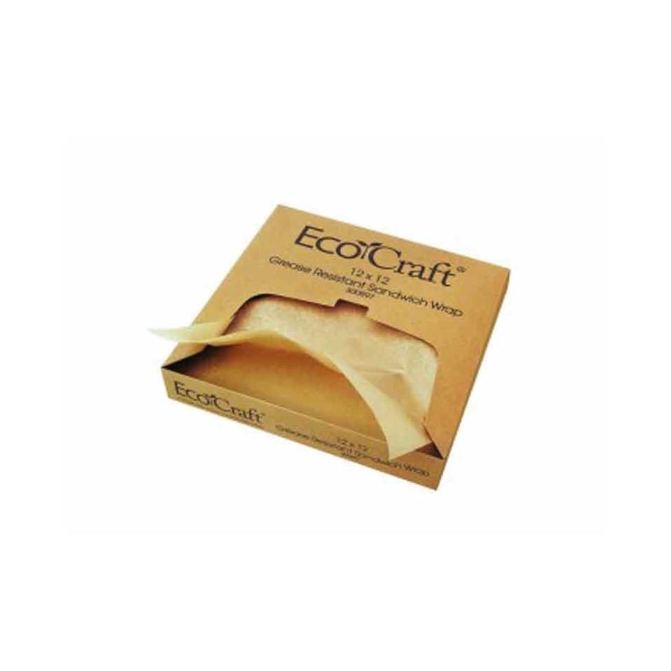 Fogli in carta oleata per alimenti marrone cm 30x30