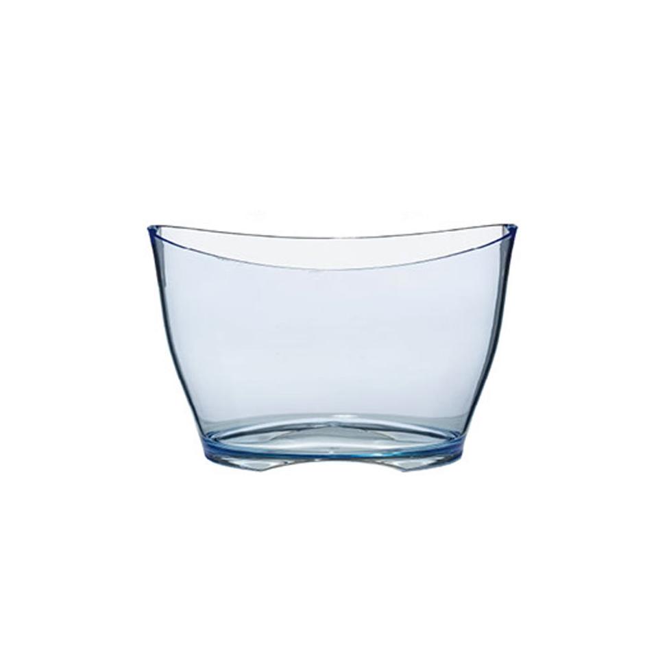 Spumantiera iceberg ovale in acrilico azzurro cm 40x29,5