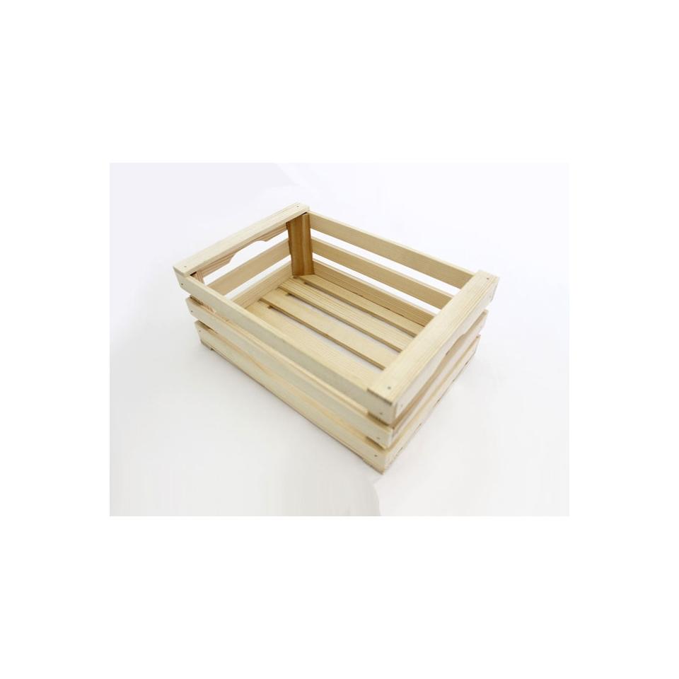 Mini cassetta a listelli in legno cm 12x6x8