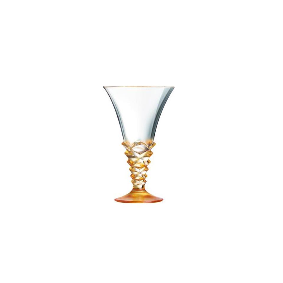 Coppa gelato Palmier in vetro arancione cl 37