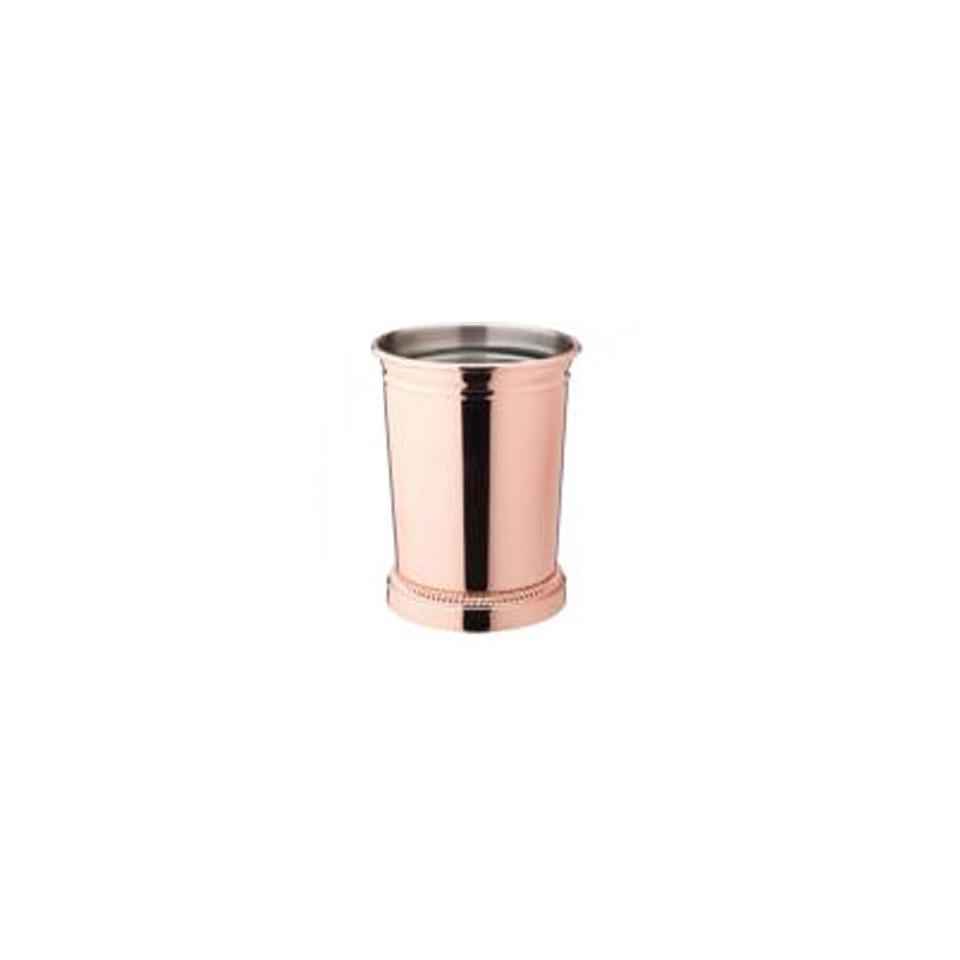 Bicchiere mint julep in rame e acciaio inox cl 39