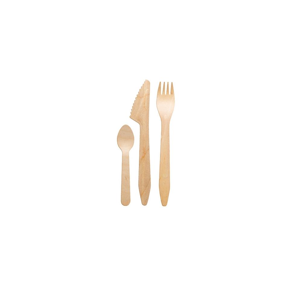 Set posate con cucchiaino Madera  in legno