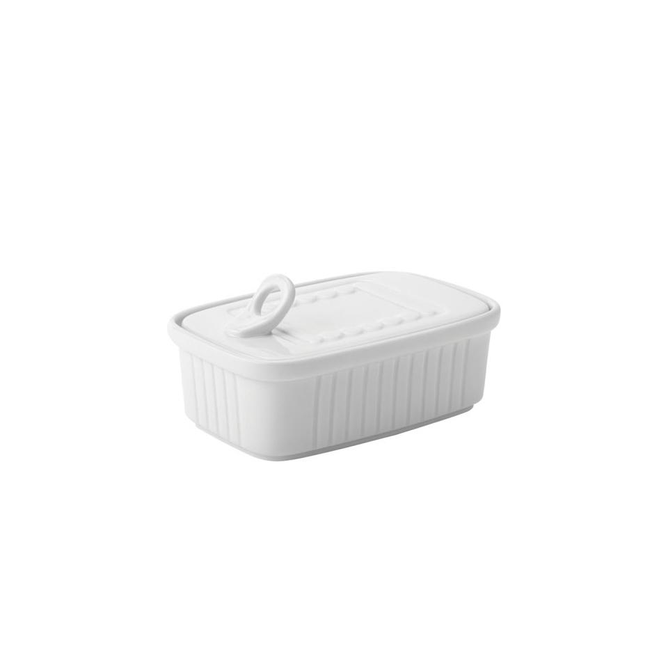 Scatoletta sardine in porcellana bianca cm 12x9