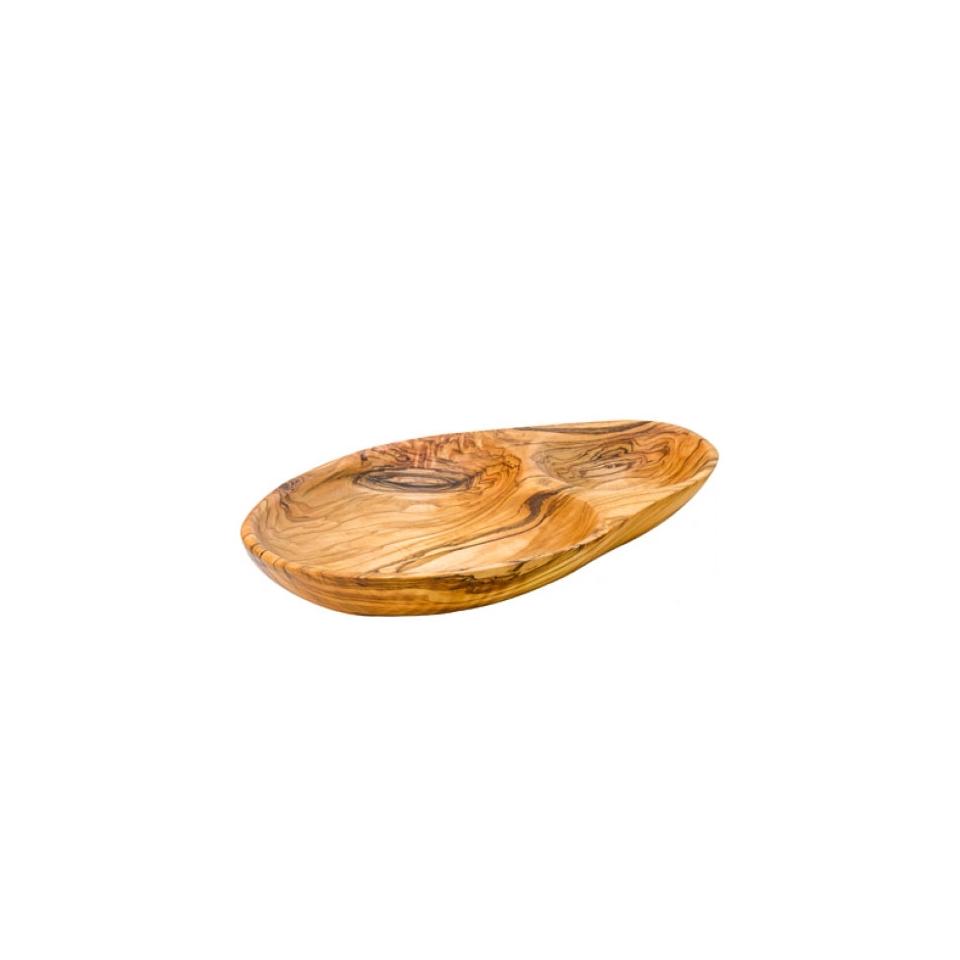 Vassoio a 2 scomparti in legno cm 21,5x12,5
