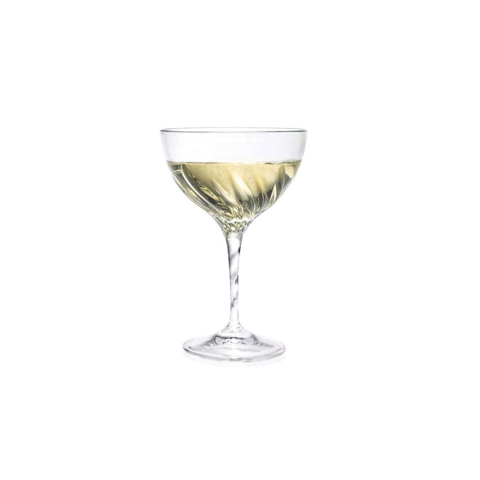 Coppa champagne Fluente RCR in vetro cl 38