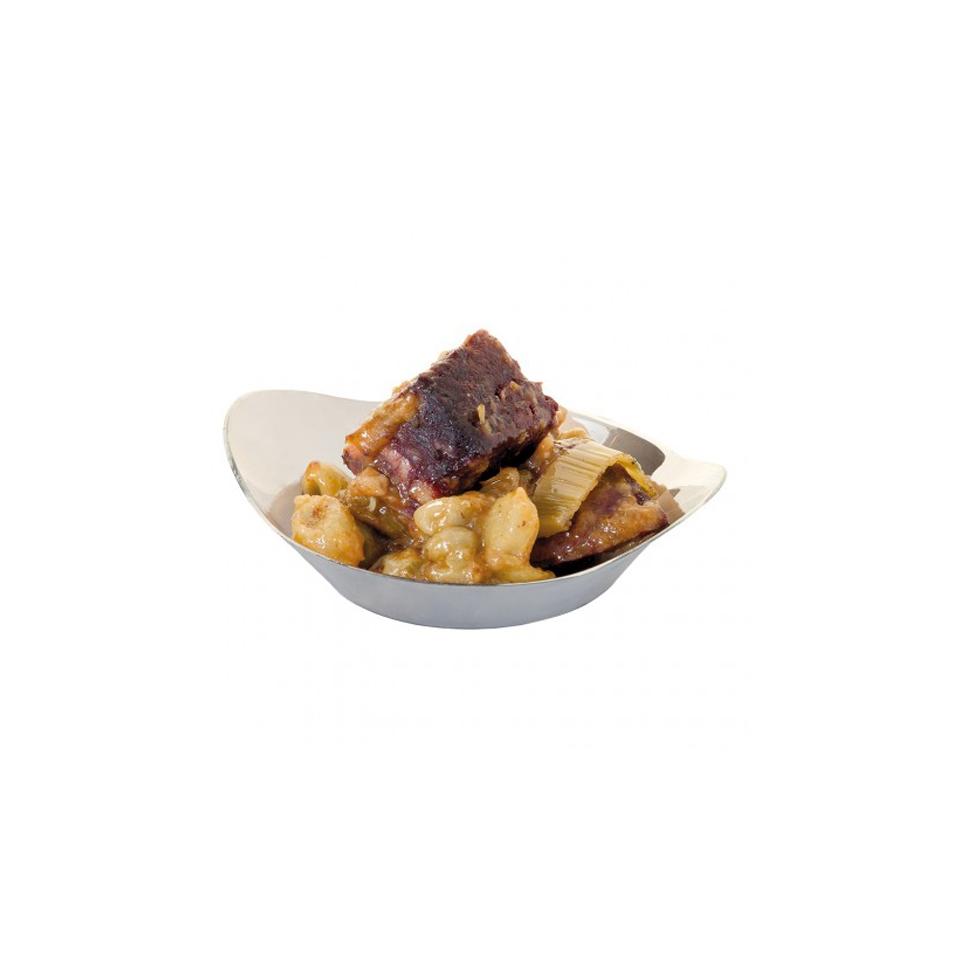 Coppetta snack in plastica argento cl 3