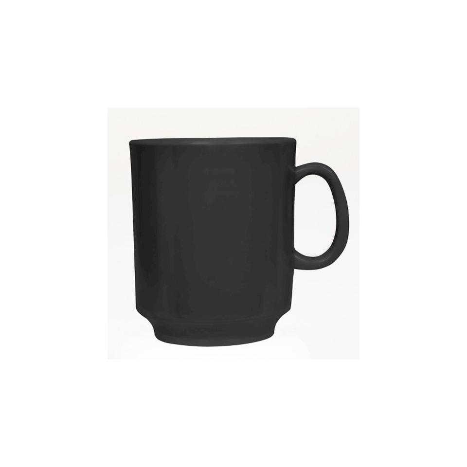 Tazza mug in melamina nera cl 24