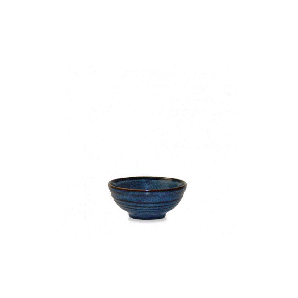 Coppetta Ripple Churchill in ceramica vetrificata blu sapphire
