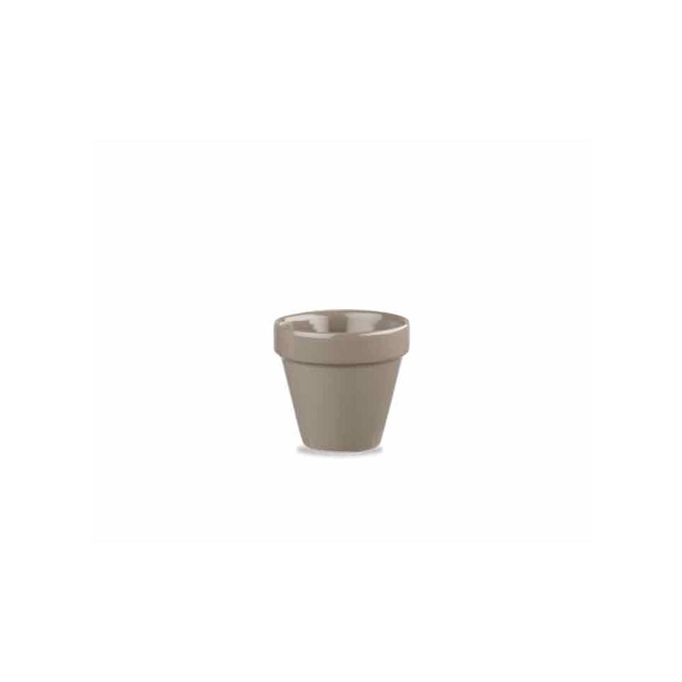 Vasetto Pebble Churchill in ceramica vetrificata grigia