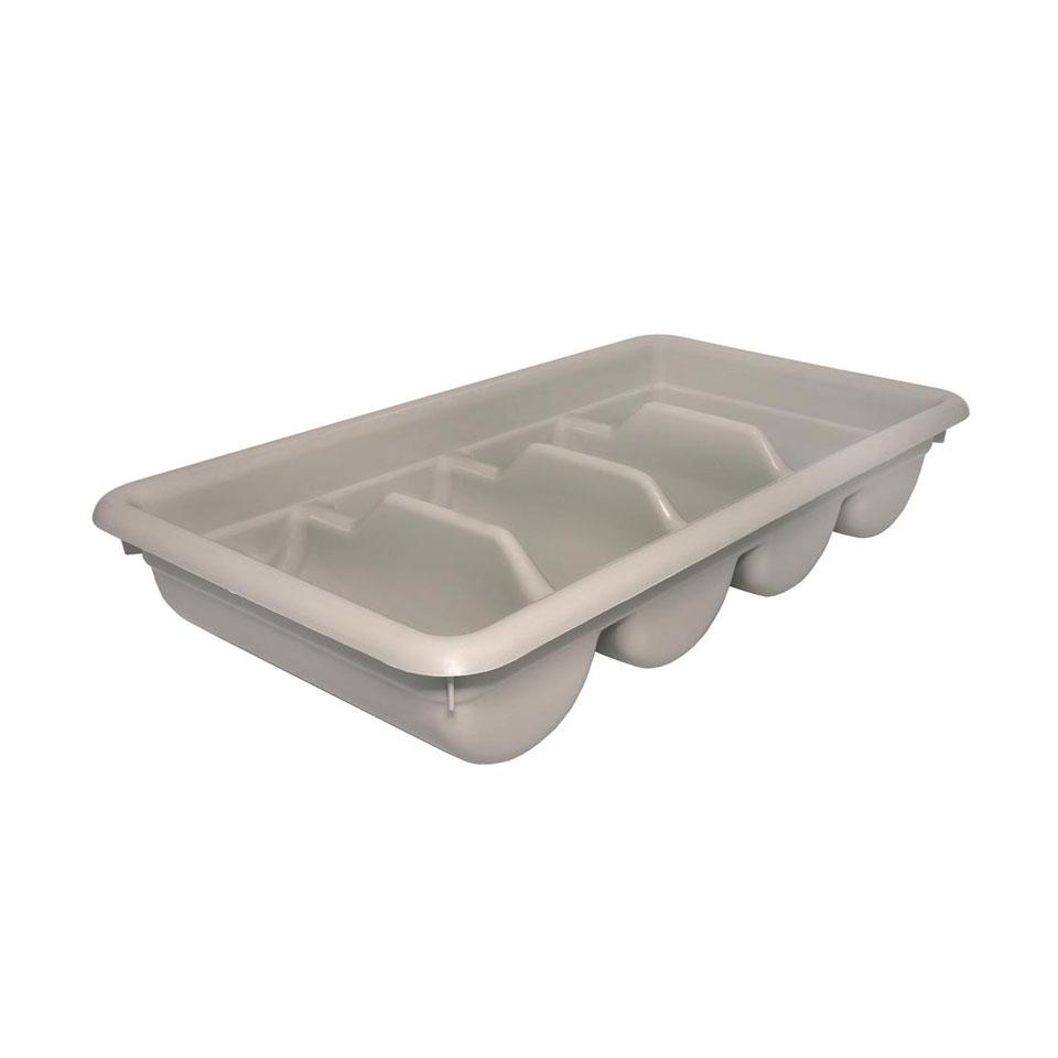 Porta posate self service in polipropilene bianco cm 52x28,5x9,5