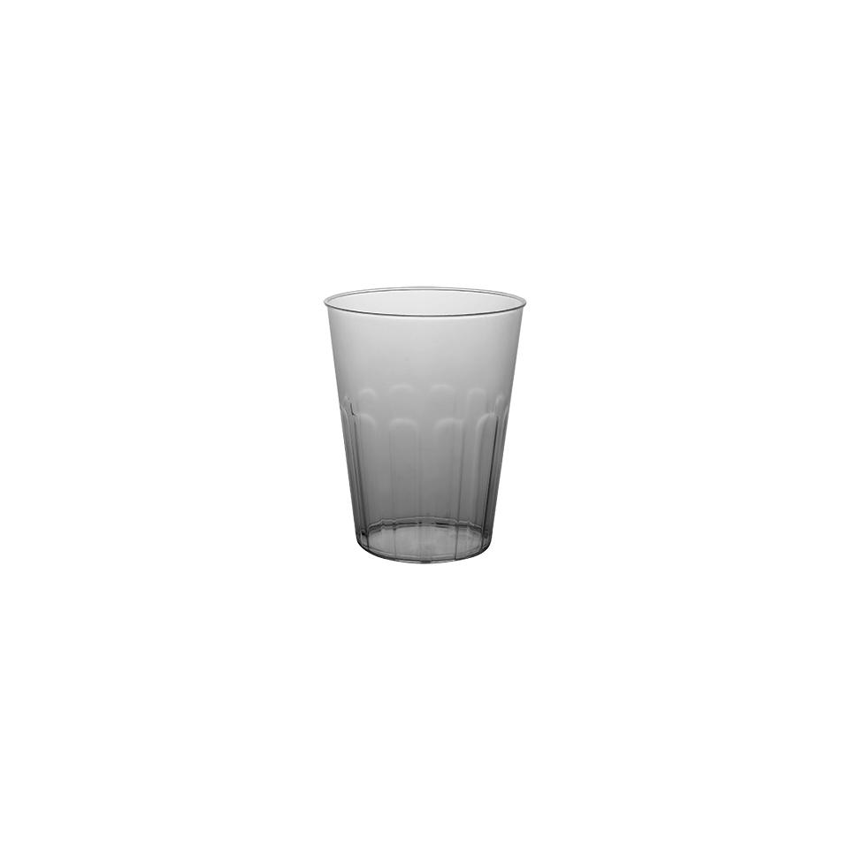 Bicchiere Miami con tacca in polistirene trasparente cl 20