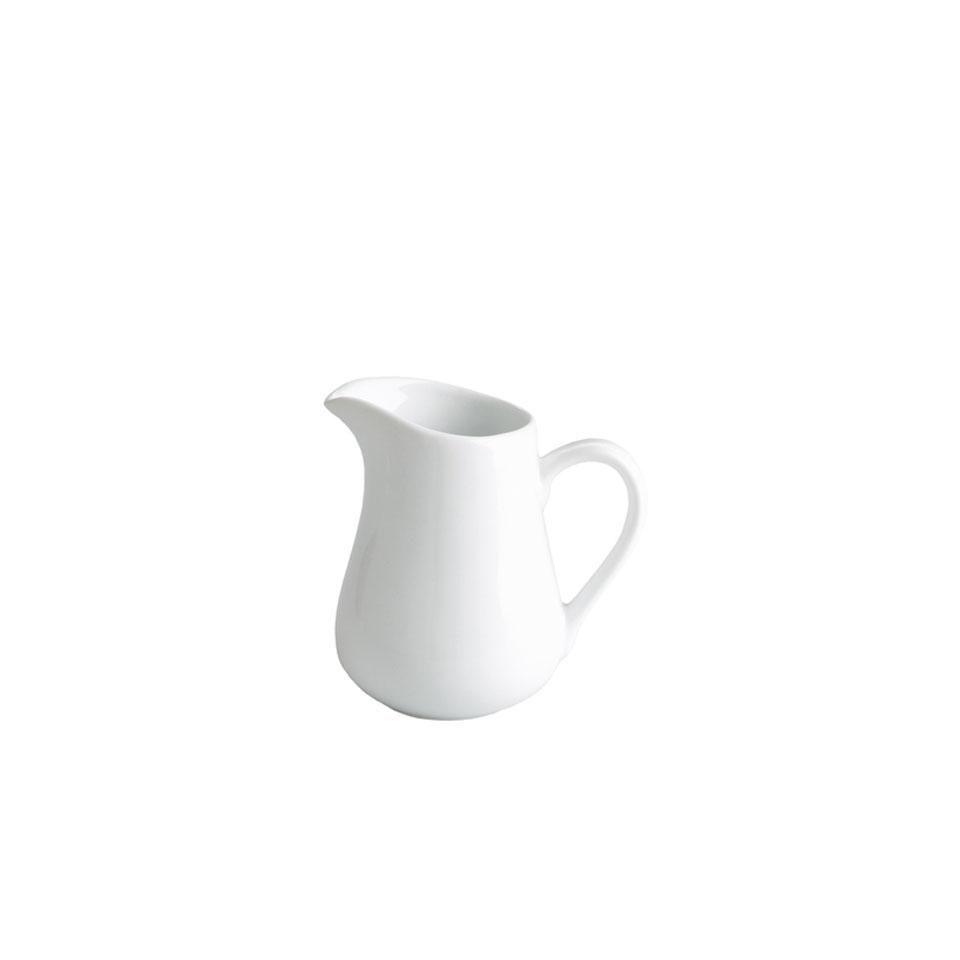 Mini lattiera in porcellana bianca