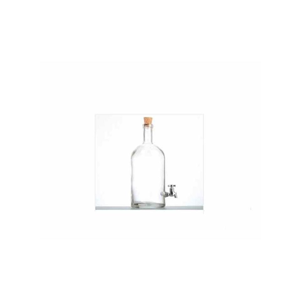 Bottiglia Boutique con tappo e rubinetto in vetro lt 1,5