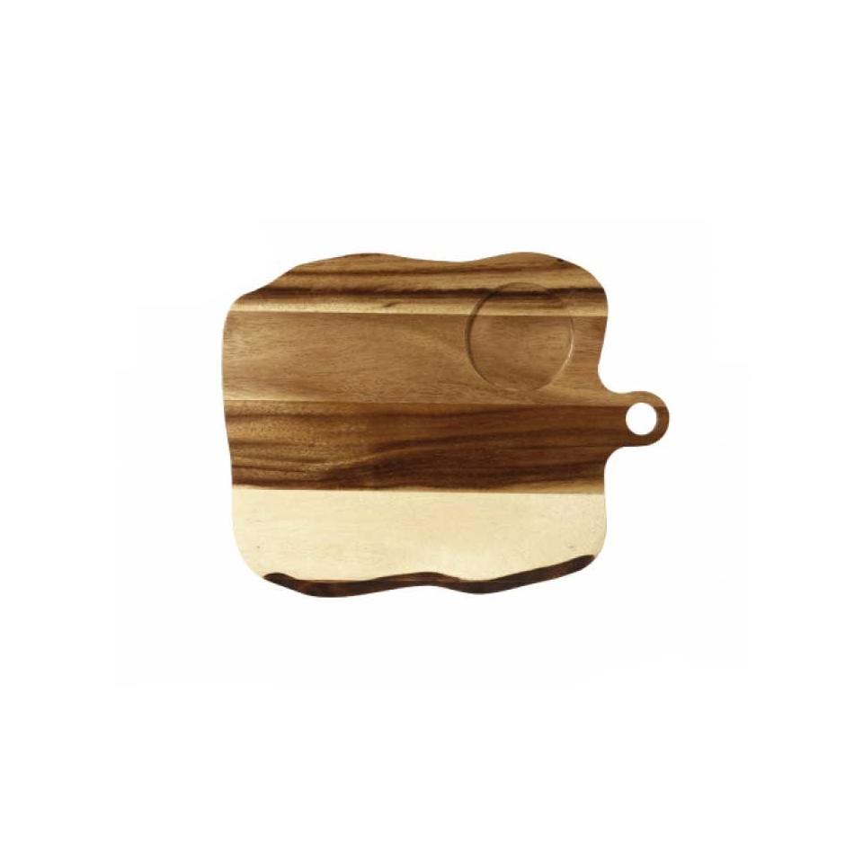 Tagliere Naturale Churchill con impronta in legno cm 35x27