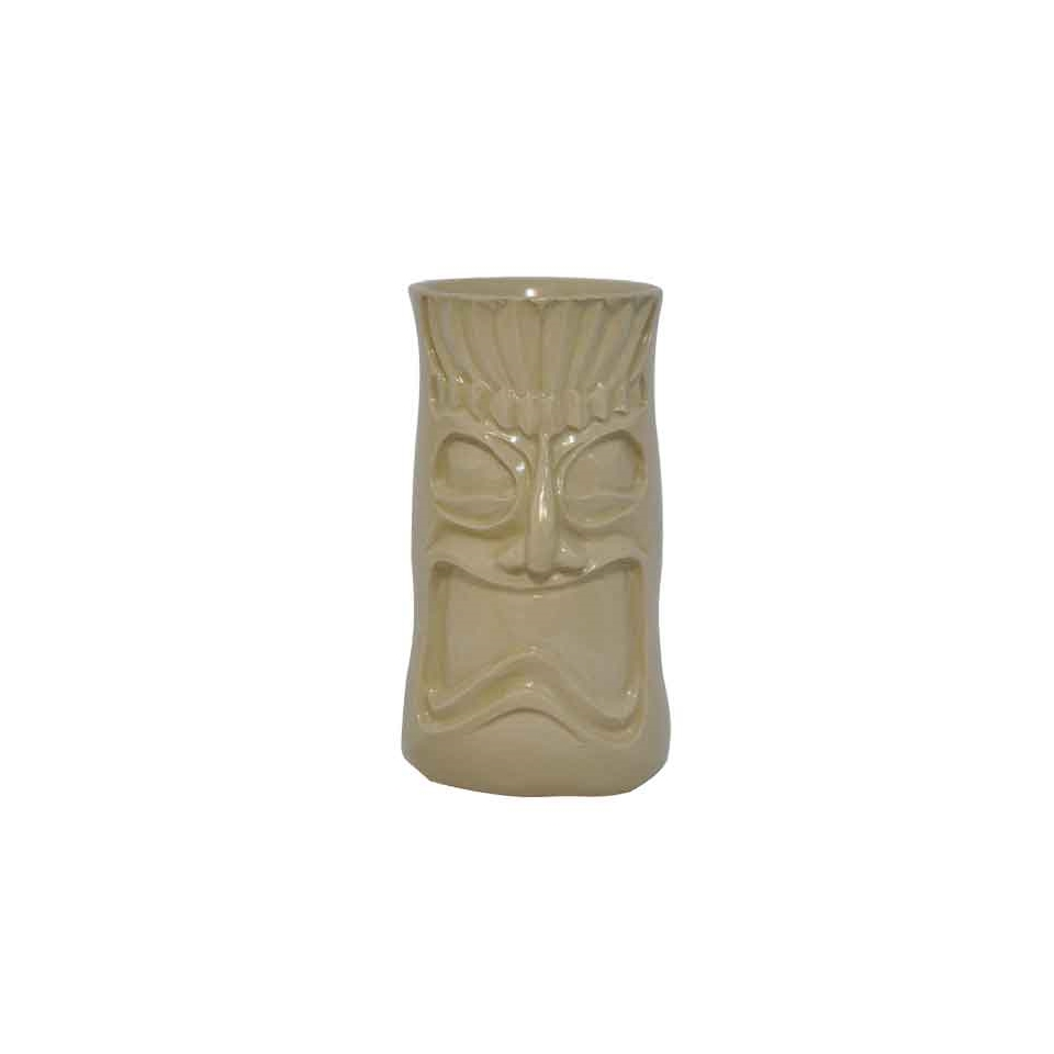 Tiki Mug Hakah-Fa in ceramica ocra cl 40