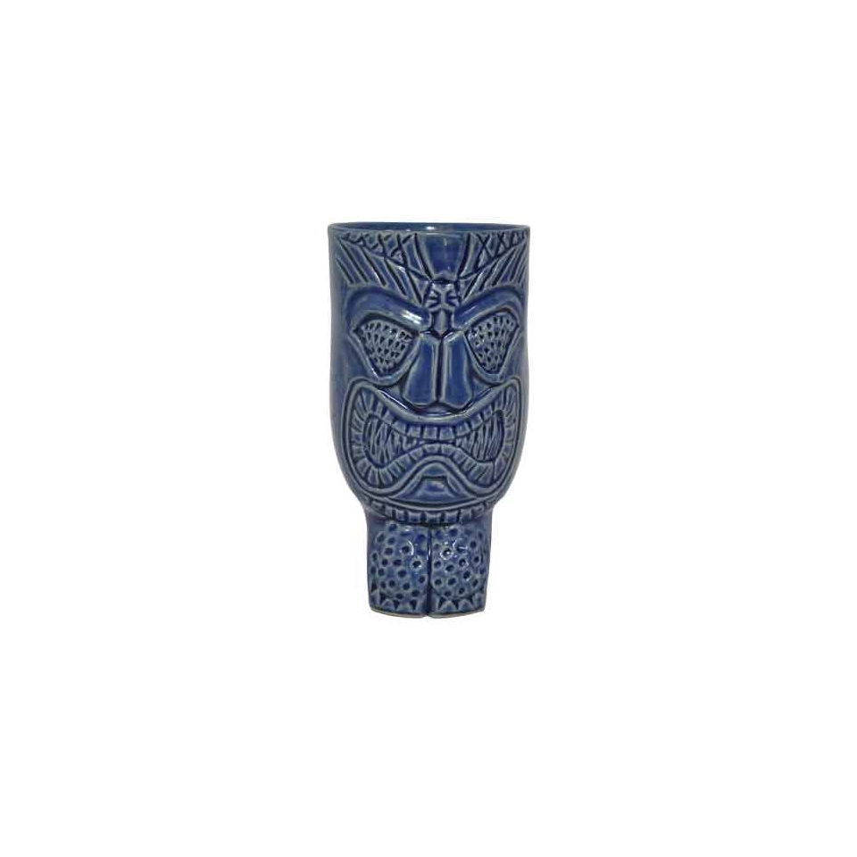 Tiki Mug Hakah-Ro in ceramica blu cl 45