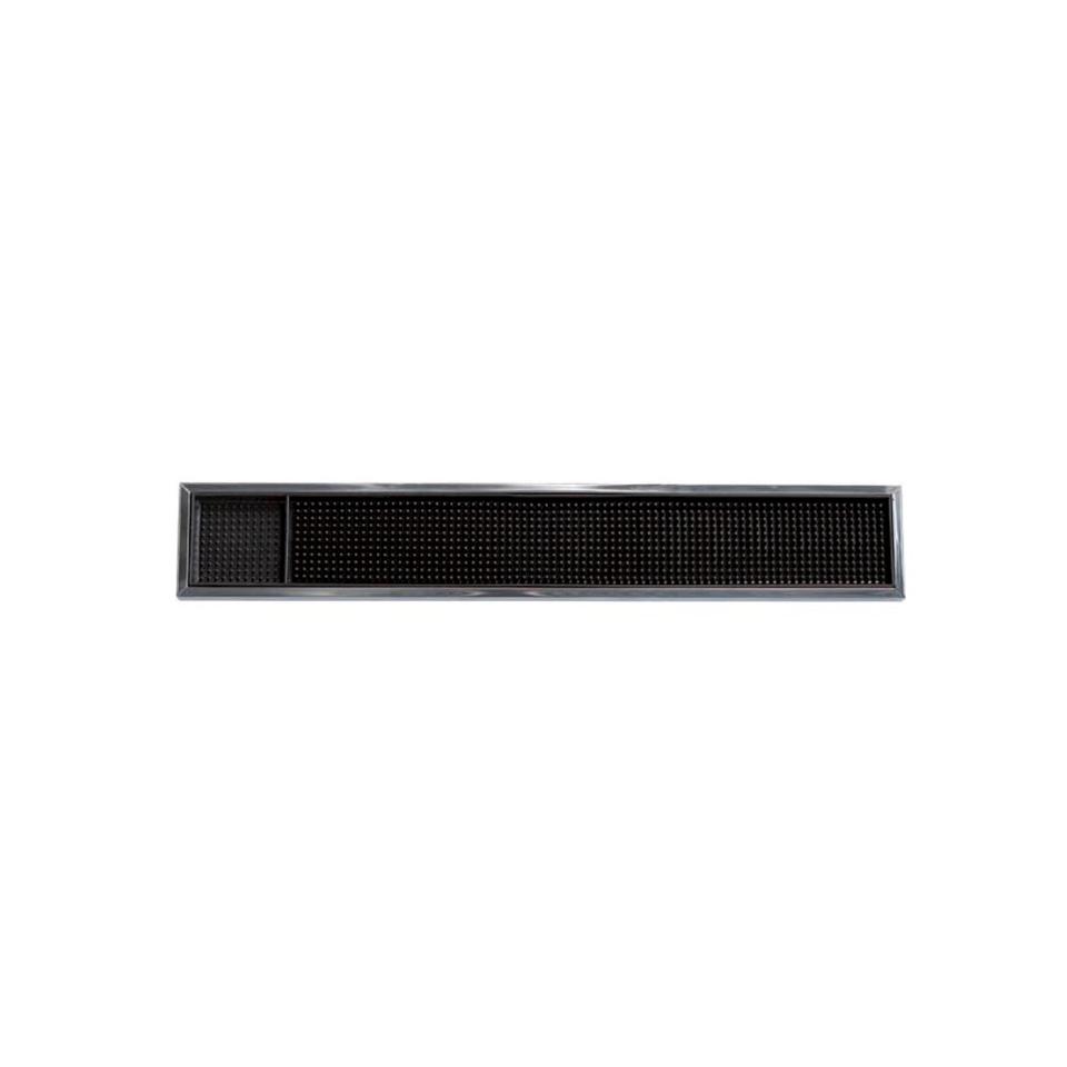 Bar mat in acciaio inox e abs nero