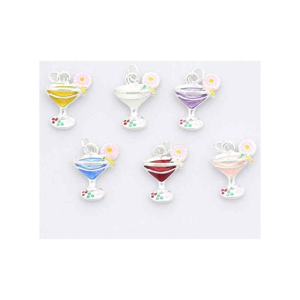 Set 6 calici gioiello decora bicchieri