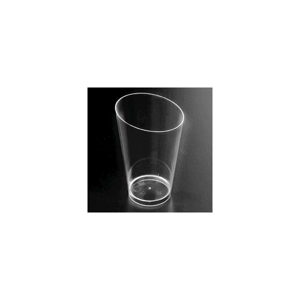 Bicchiere Conico alto Finger Food Gold Plast in PS trasparente cl 7