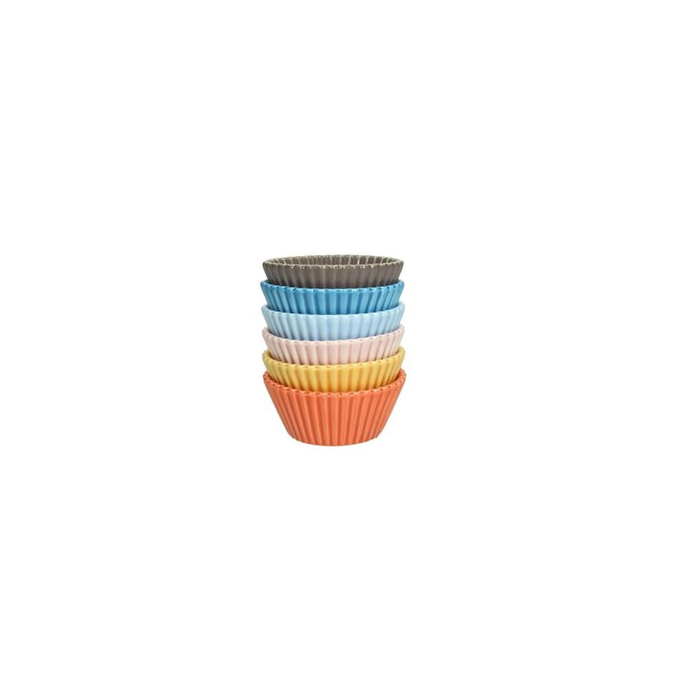 Cup cake in porcellana colori assortiti cm 6,7x3
