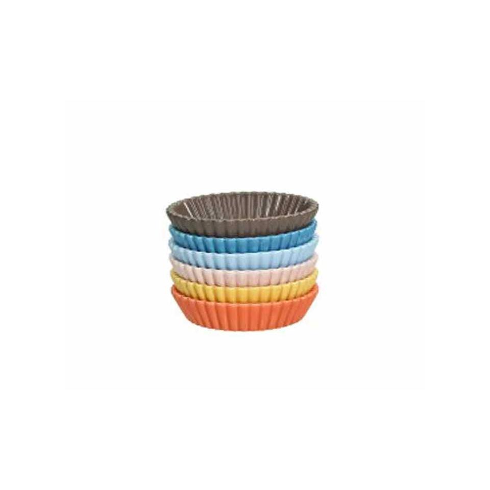 Cup cake Maxi in porcellana colori assortiti cm 10,5x2,5
