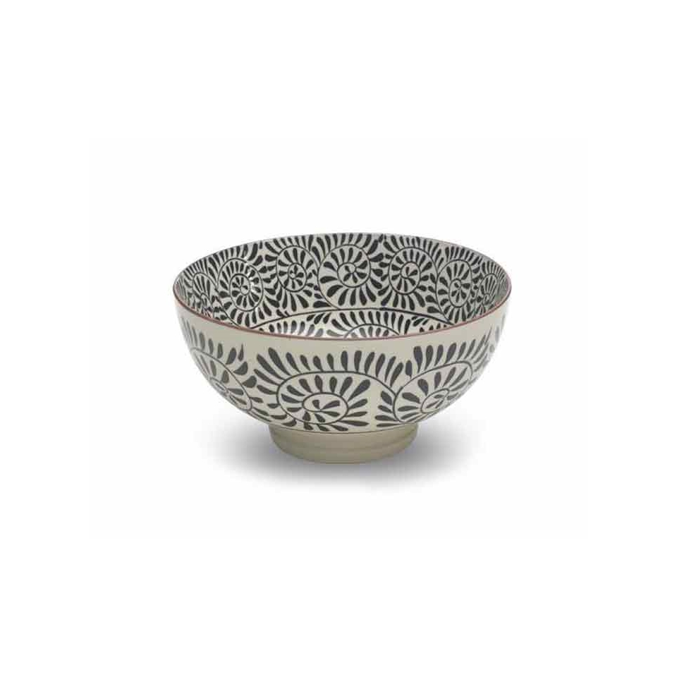 Insalatiera Bowl Tue black in porcellana cm 20