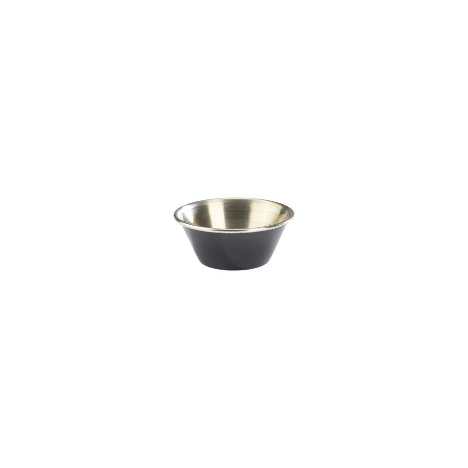 Coppetta Ramekin in acciaio inox smaltato nero cm 6