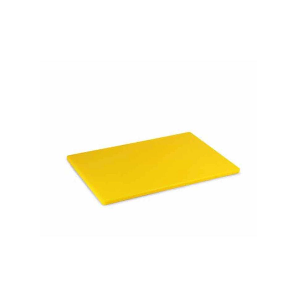 Tagliere in polipropilene giallo cm 25x15x0,5