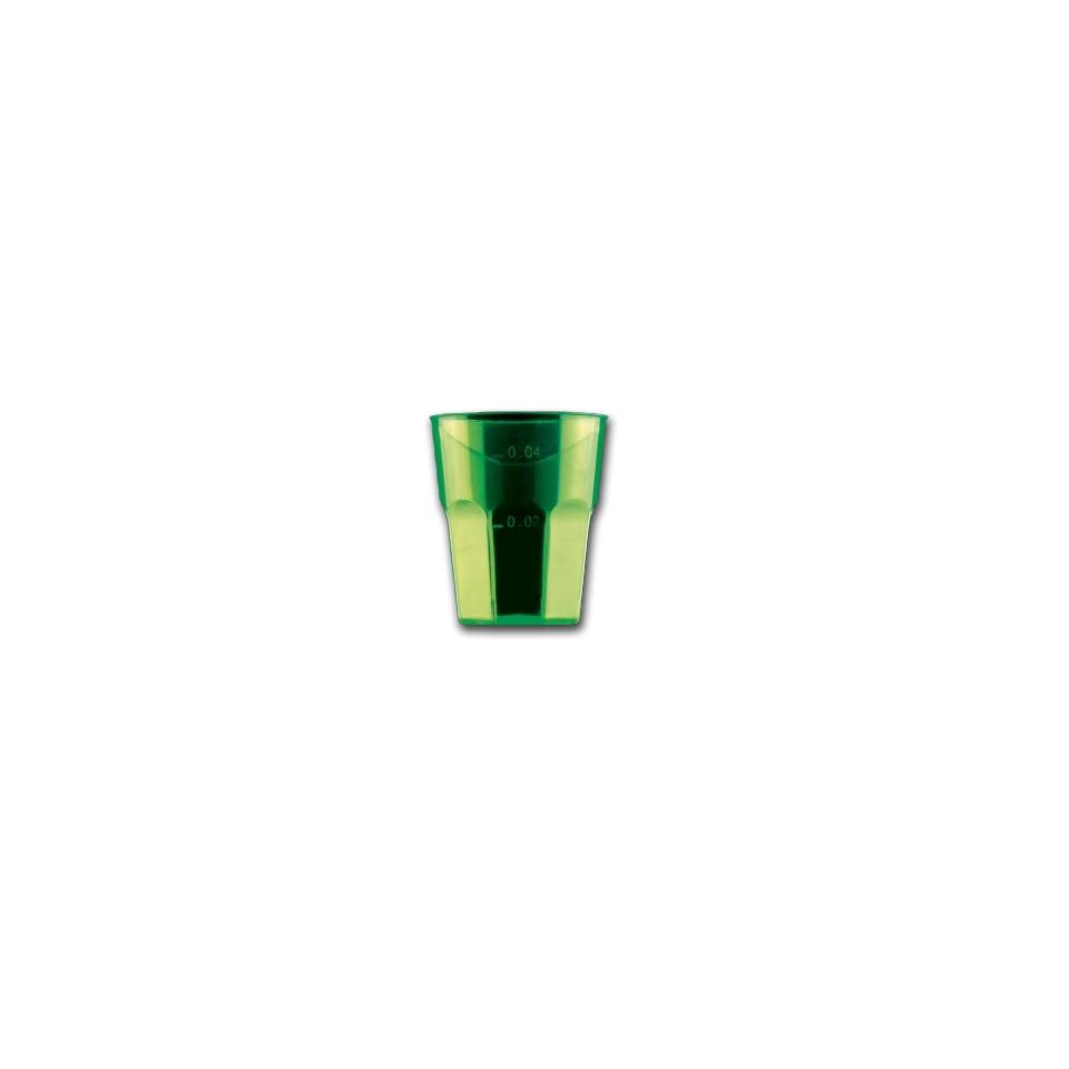 Bicchiere Disco Cocktail Gold Plast in polistirolo verde cl 5