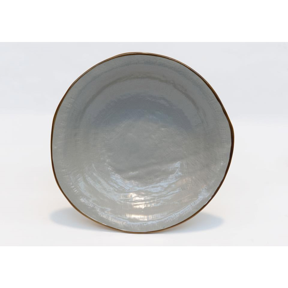 Piatto fondo Mediterraneo in ceramica fango