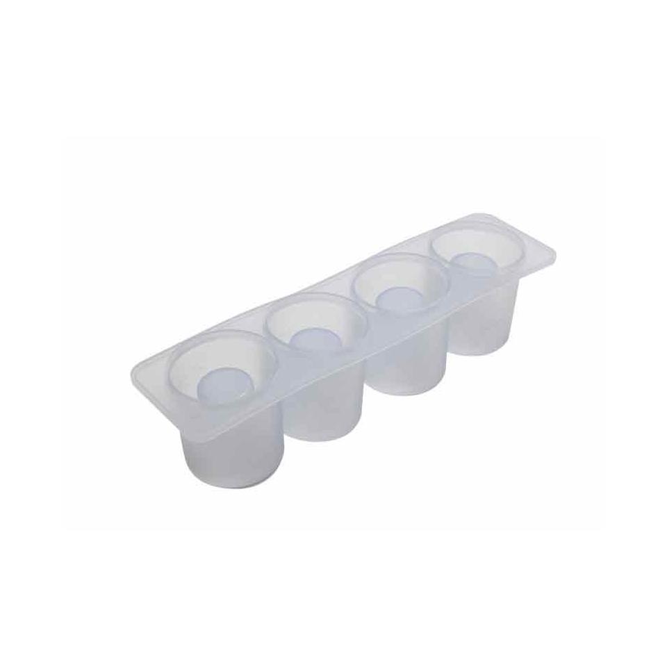 Stampo ghiaccio bicchiere 4 impronte in silicone