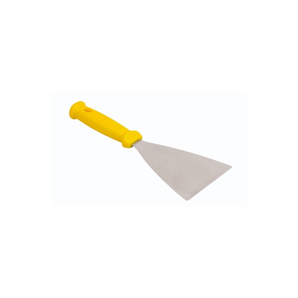 Spatola triangolare flessibile in acciaio inox e plastica cm 12