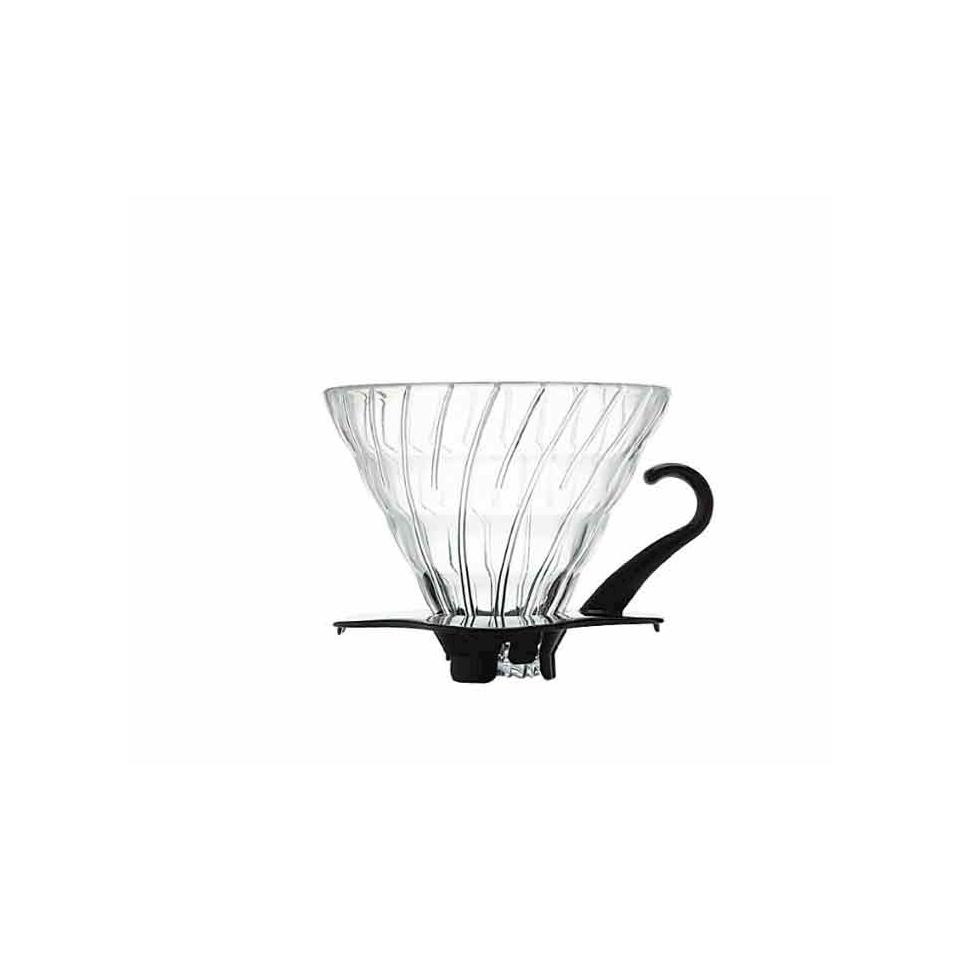 Filtro caffè 1-4 tazze in vetro con bordo nero