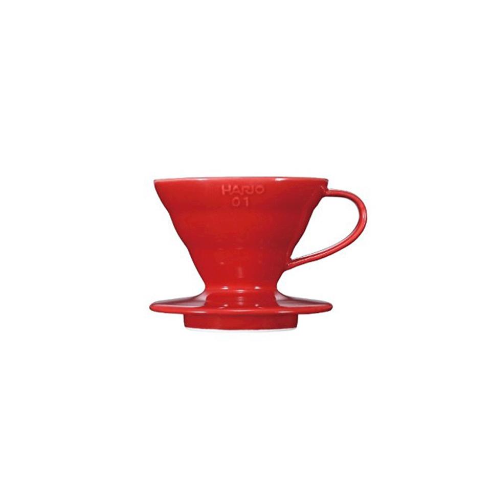 Filtro caffè 1-4 tazze in ceramica rosso