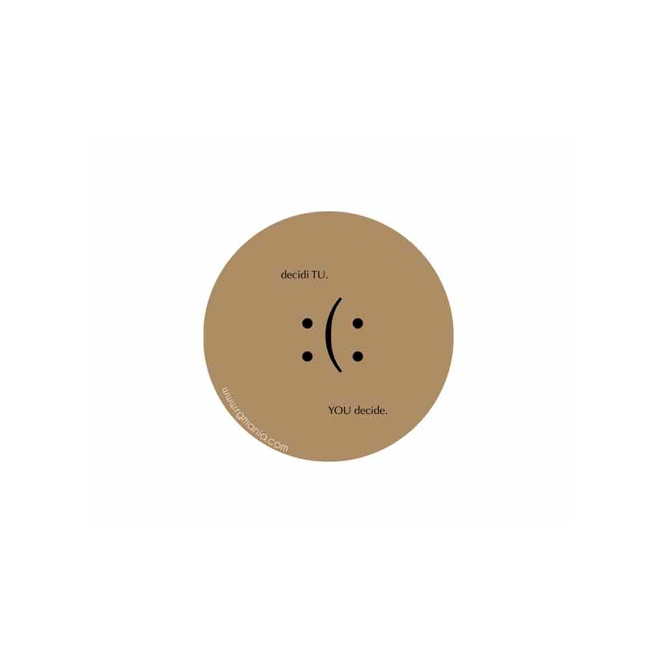 Sottobicchieri ''Decidi tu'' in Cartoncino Marrone Cm 10