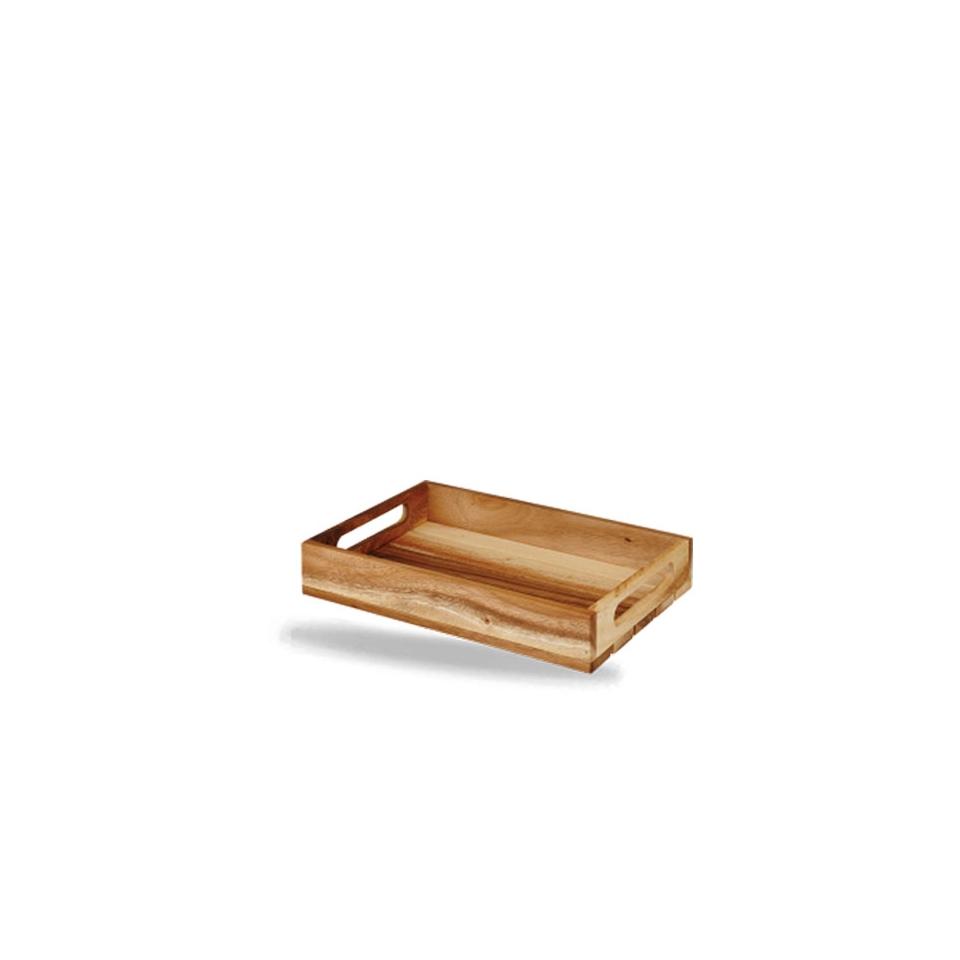 Cassetta rettangolare Wood Churchill in legno di acacia marrone