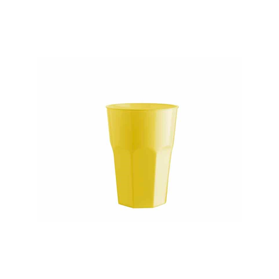Bicchiere cocktail in polipropilene giallo cl 35