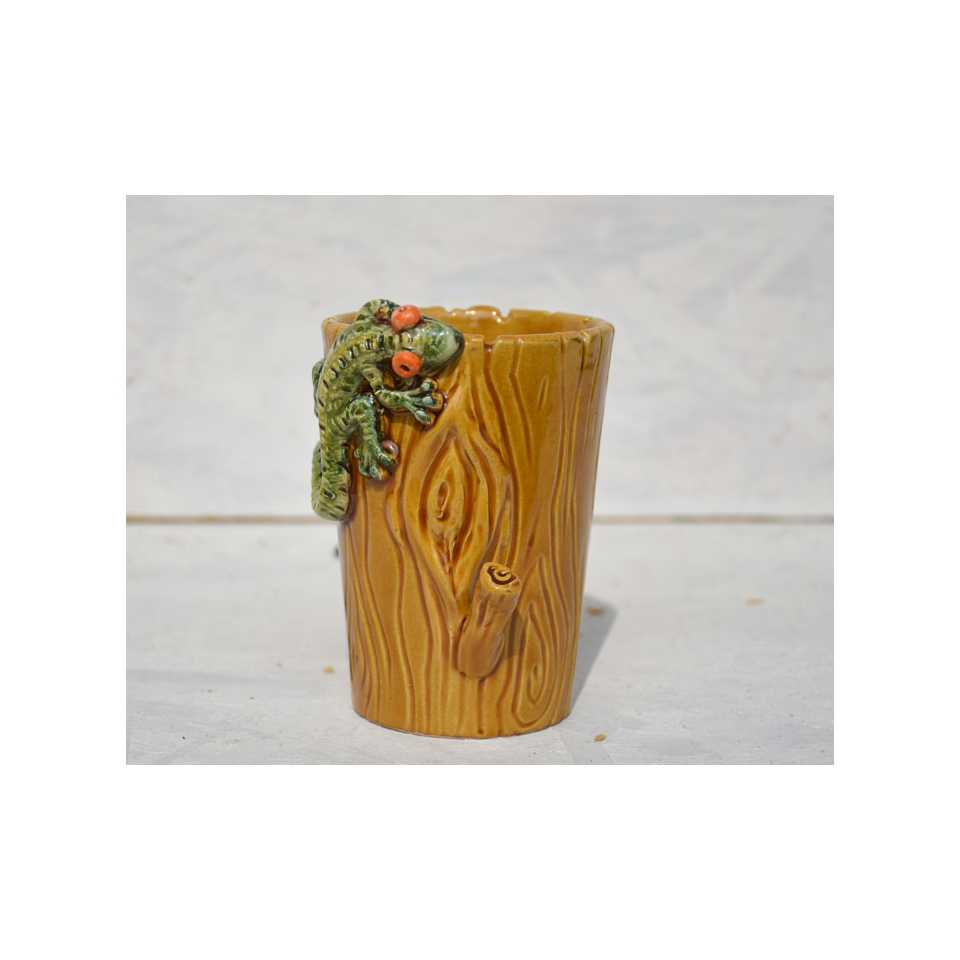 Tiki Mug Geko in porcellana marrone cl 40