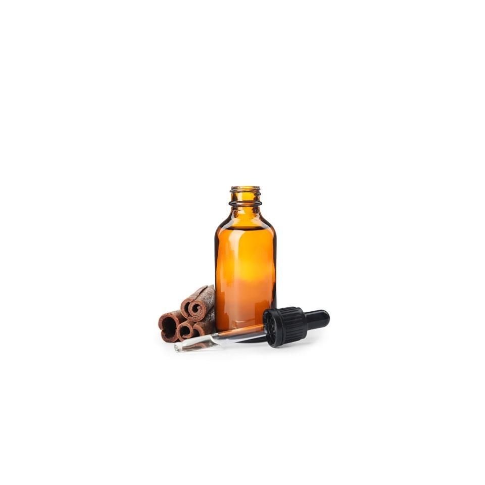Bottiglietta contagocce in vetro marrone