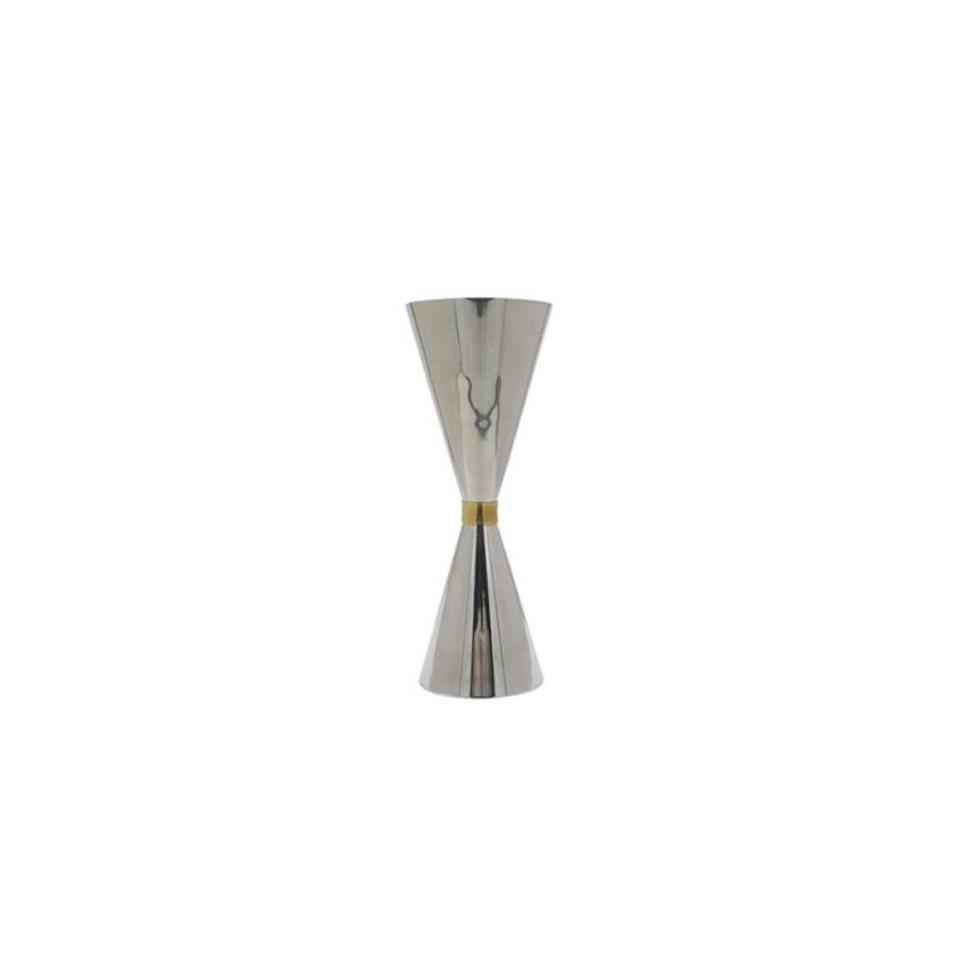 Jigger in acciaio inox con anello dorato cl 6-9