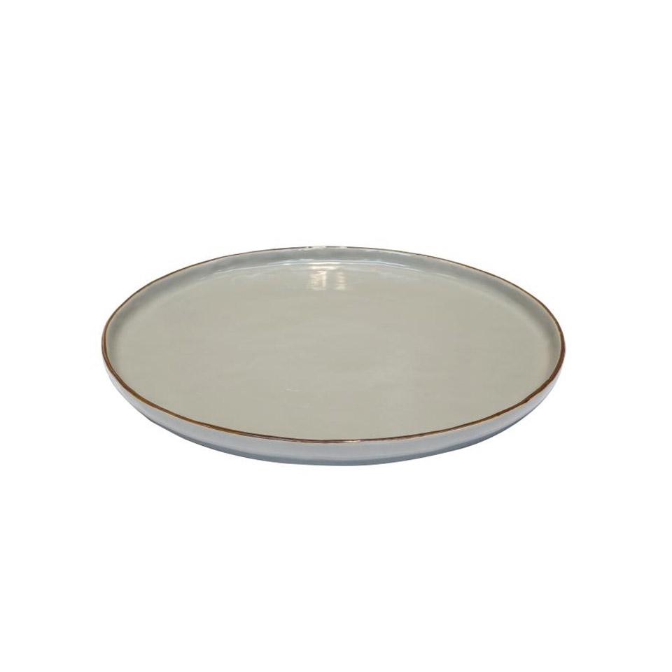 Piatto pizza Mediterraneo in ceramica fango cm 31,5