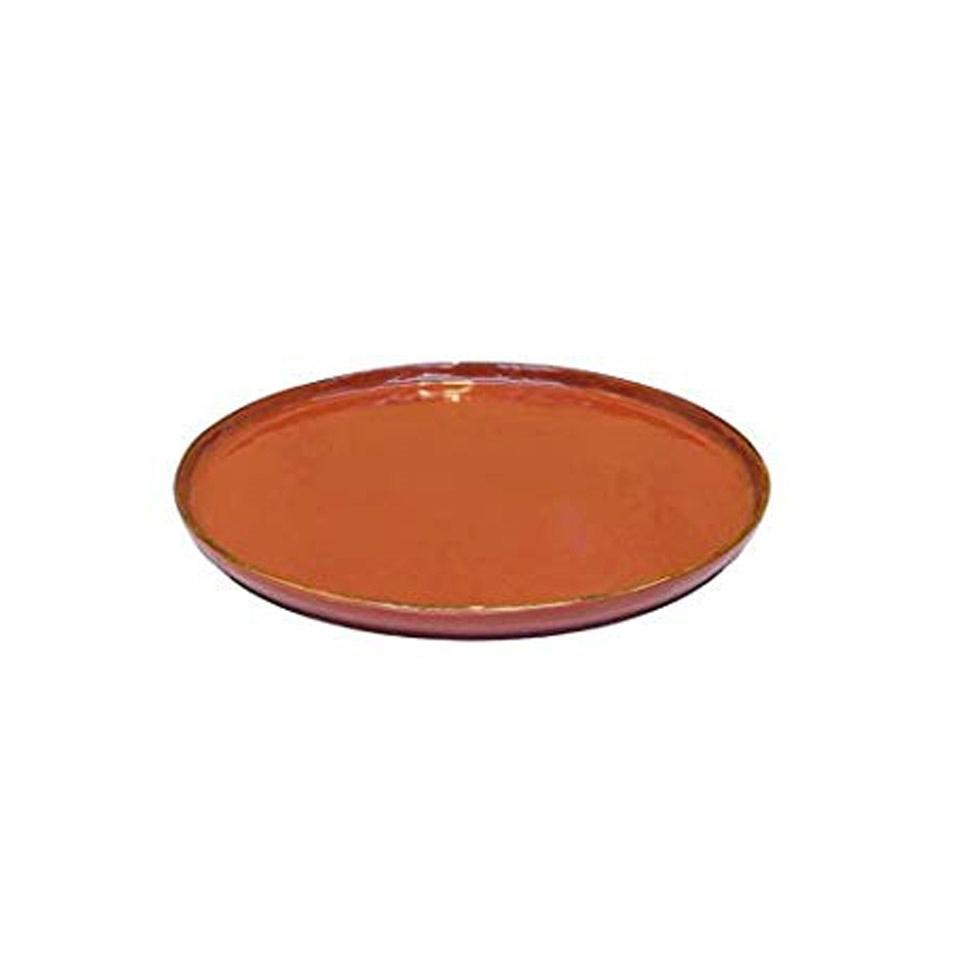 Piatto pizza Mediterraneo in ceramica arancio cm 31,5