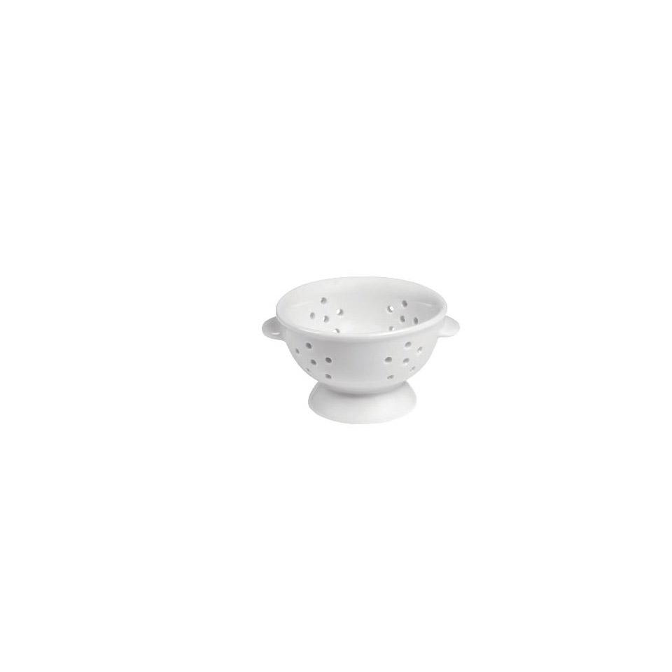Mini colapasta 2 manici in porcellana bianca cm 7x4,5