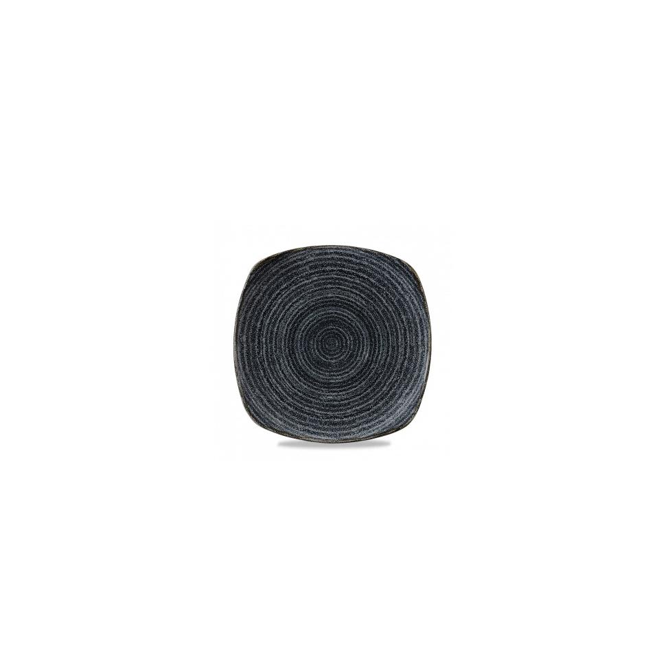 Piatto piano quadrato Studio Prints Homespun in ceramica vetrificata nero cm 25