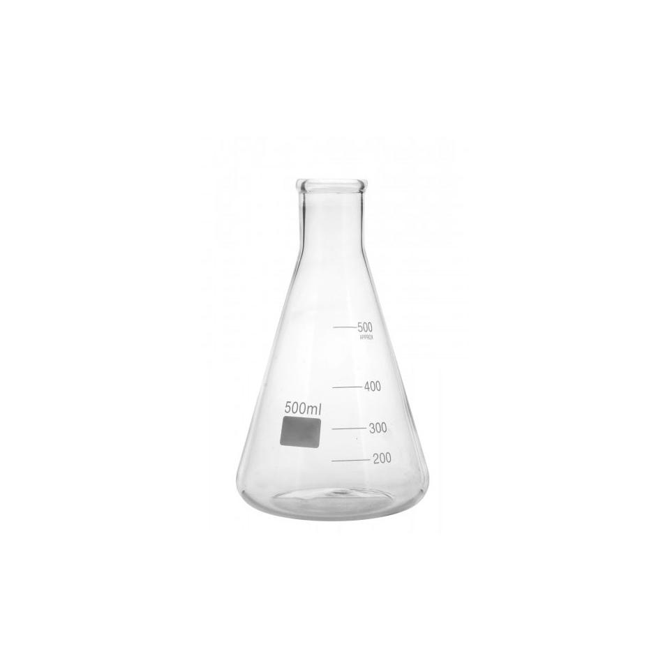 Ampolla conica graduata in vetro cl 50