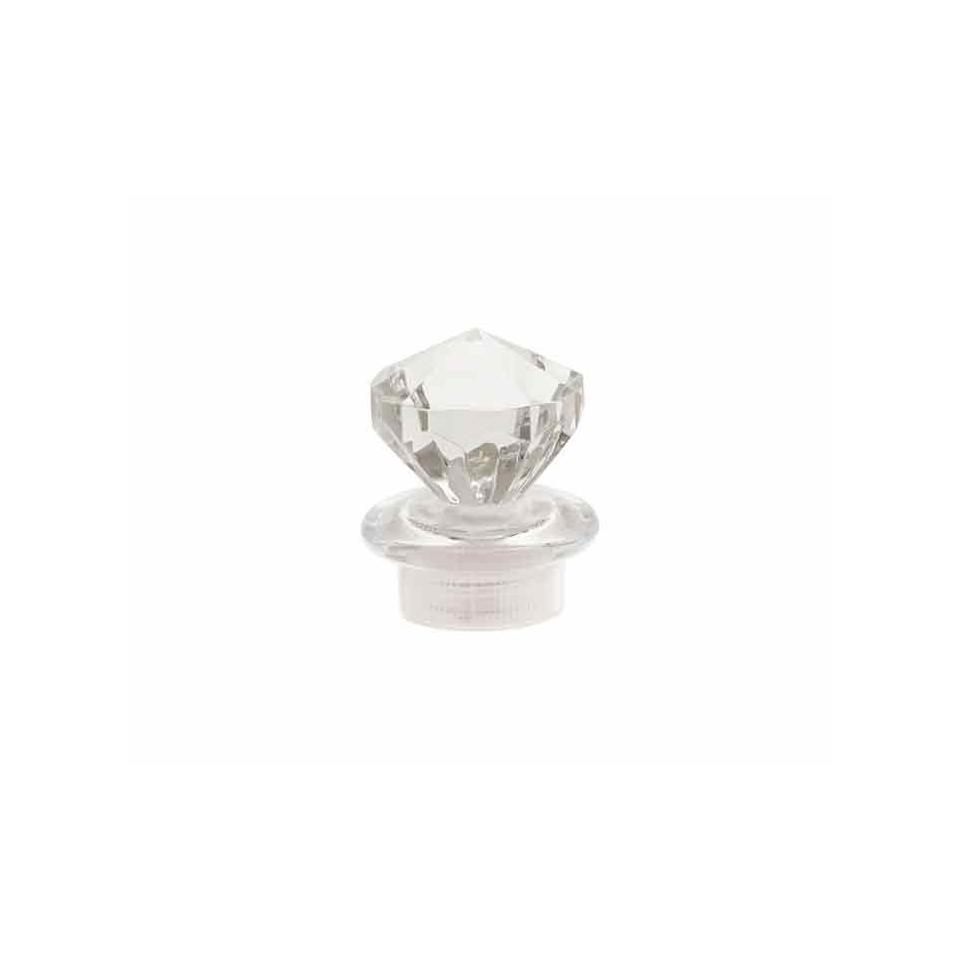 Tappi diamante in plastica trasparente