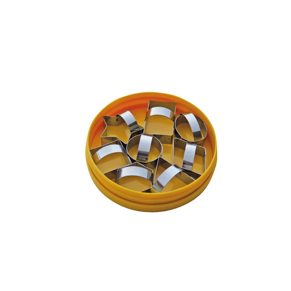Set 8 Tagliapasta Sagome Geometriche In Acciaio Inox