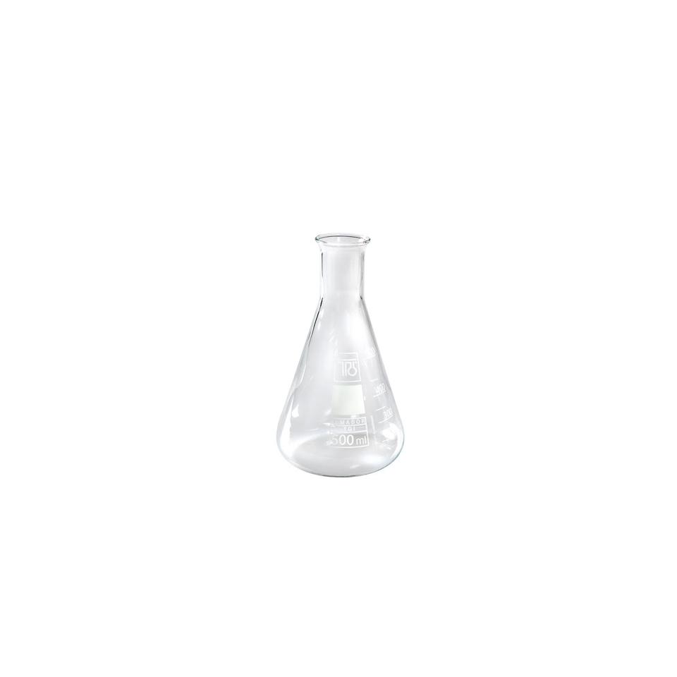 Ampolla conica graduata in vetro cl 10
